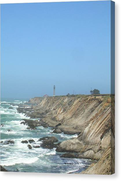 Point Arena Lighthouse - Vertical Canvas Print