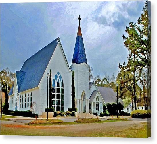 Point Clear Alabama St. Francis Church Canvas Print