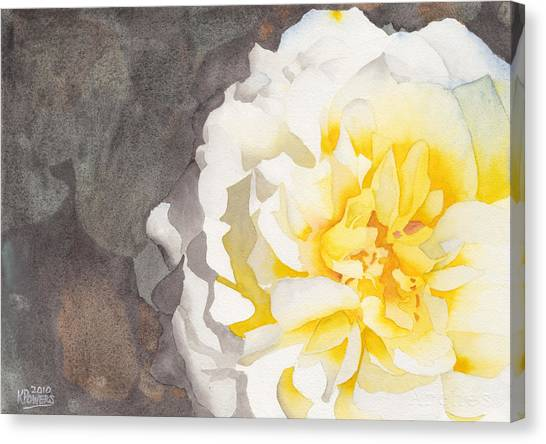Point Defiance White Flower Canvas Print