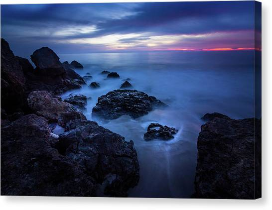 Point Dume Rock Formations Canvas Print