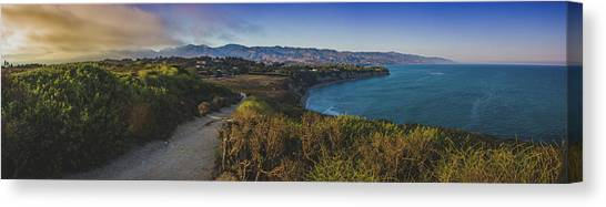 Point Dume Sunset Panorama Canvas Print