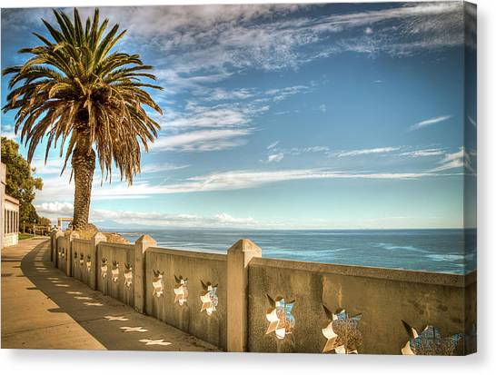 Point Fermin Walkway San Pedro California Canvas Print