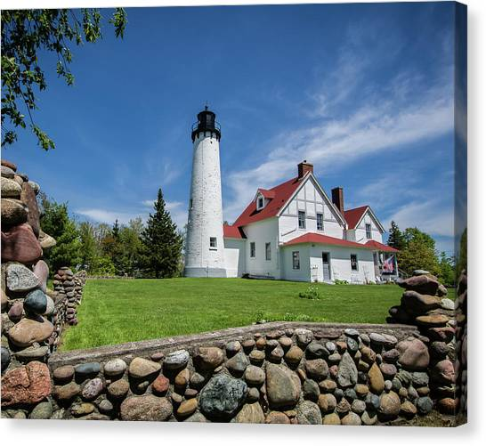 Point Iroquois Light Station Canvas Print