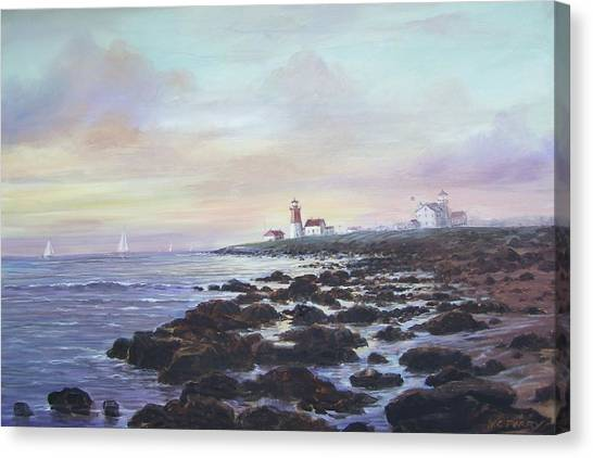 Point Judith Light R I Canvas Print