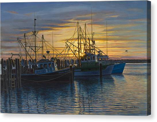 Point Judith Sunset Canvas Print by Bruce Dumas