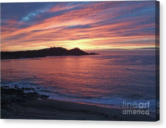 Point Lobos Red Sunset Canvas Print