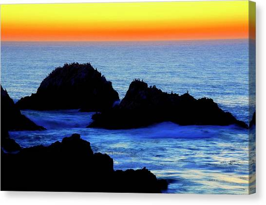Point Lobos Sunset, California Canvas Print