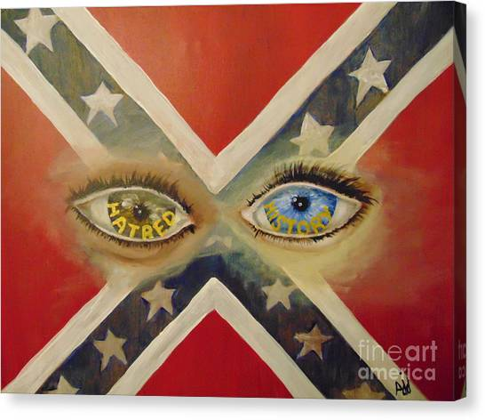 Canvas Print featuring the painting Point Of View by Saundra Johnson