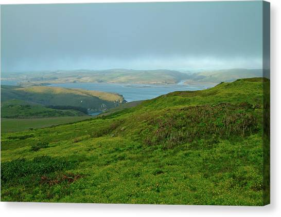 Point Reyes Overlooking Tomales Bay Canvas Print
