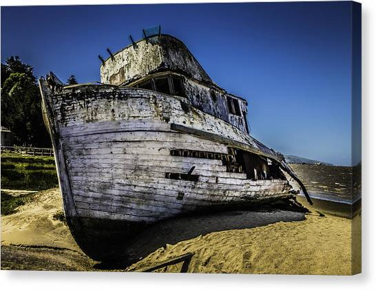 Sandbar Canvas Print - Point Reyes Ship Wreck by Garry Gay