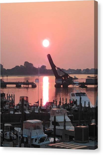 Point Sunrise Canvas Print by Paul Barlo