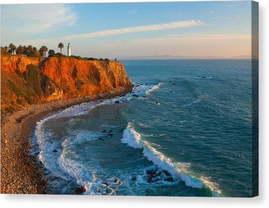 Point Vicente Lighthouse Palos Verdes California Canvas Print