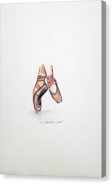 Ballerina Canvas Print - Pointe On Friday by Venie Tee