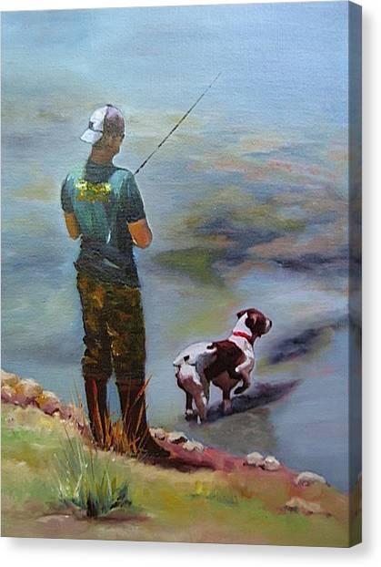 Pointin Fish Canvas Print