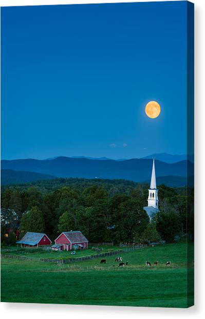 Pointing At The Moon Canvas Print