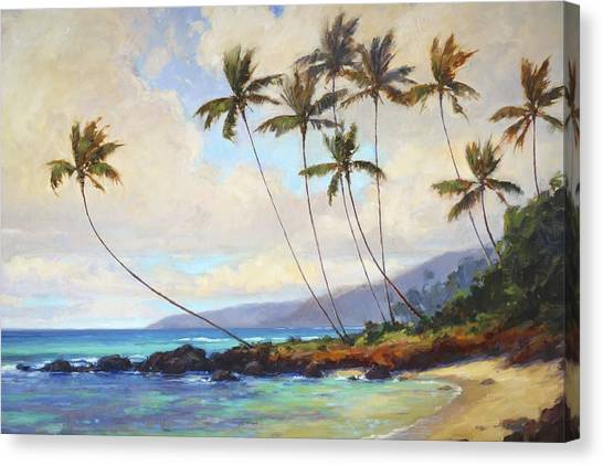 Hawaii Canvas Print - Poipu Beach  by Jenifer Prince