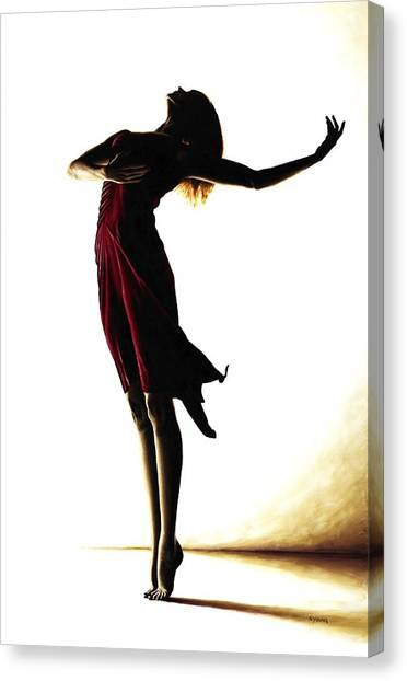Ballet Canvas Print - Poise In Silhouette by Richard Young