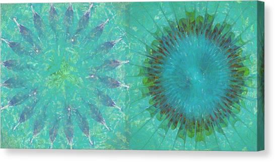 Sacramento State Canvas Print - Poises Scheme Flower  Id 16165-194517-17510 by S Lurk