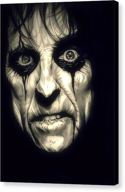 Boa Constrictor Canvas Print - Poison Alice Cooper by Fred Larucci