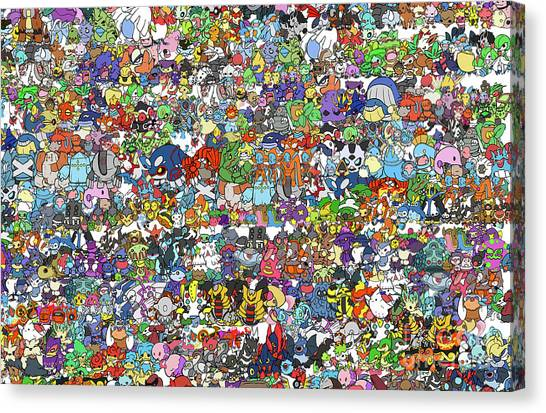 Canvas Print - Pokemon  by Mark Ashkenazi