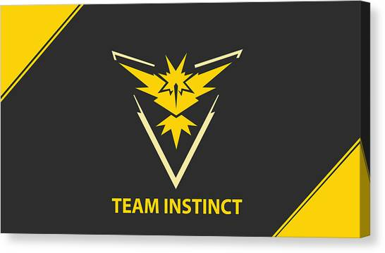 Pokemon Go Canvas Print - Pokemon Go Team Instinct by Michael Stout