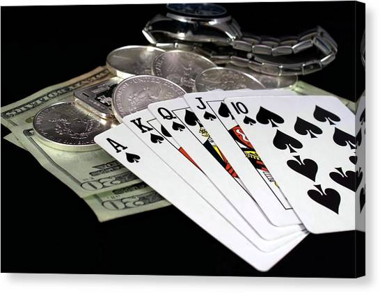 Poker - The Winning Hand Canvas Print