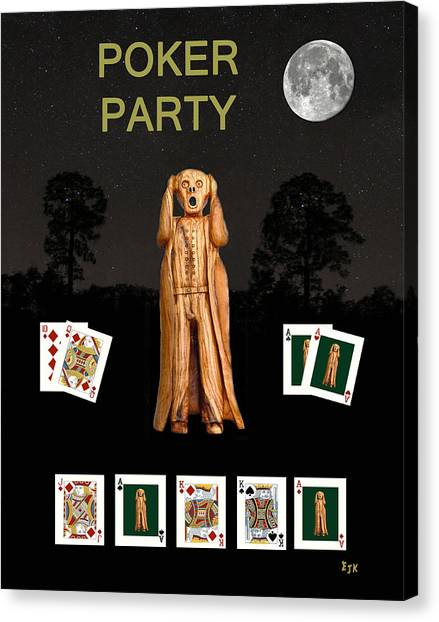 Poker Scream Party Poker Canvas Print
