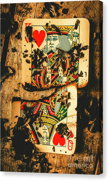 Queens Canvas Print - Poker War Revolt by Jorgo Photography - Wall Art Gallery
