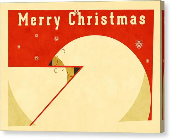 Santa Claus Canvas Print - Polar Bear 3 by Daviz Industries