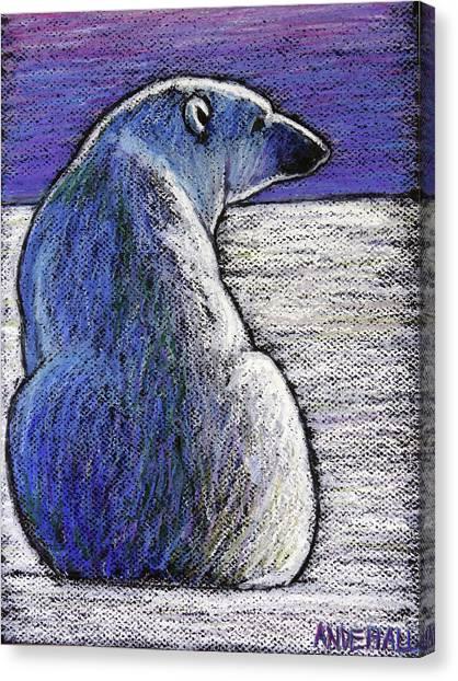 Polar Bear Canvas Print - Polar Bear Backside by Ande Hall