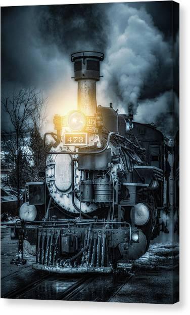 Locomotive Canvas Print - Polar Express by Darren White