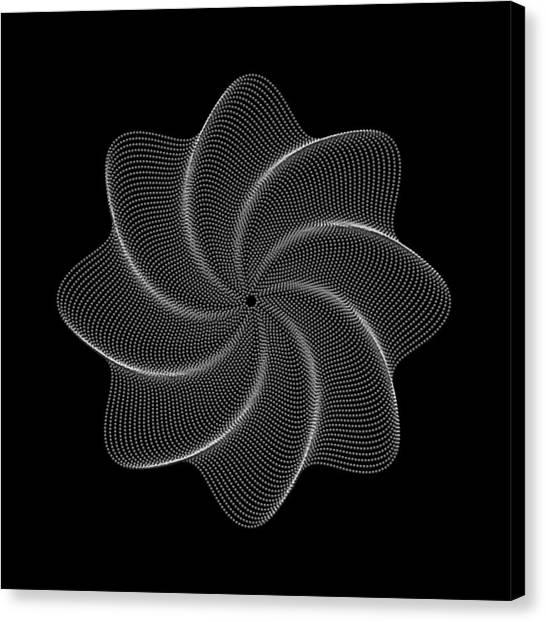 Polar Flower Viiik Canvas Print by Robert Krawczyk