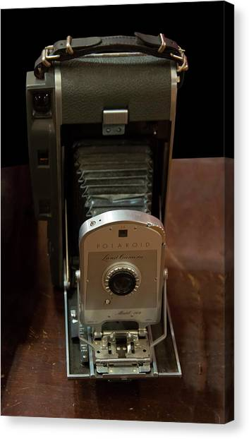 Canvas Print featuring the photograph Polaroid Land Camera Model 160 by Chris Flees