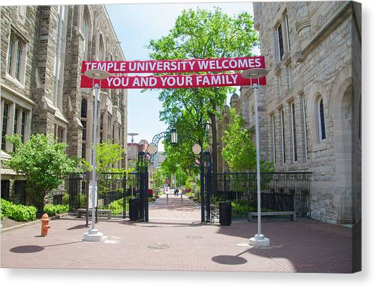 Aac Canvas Print - Polett Walk - Temple University by Bill Cannon