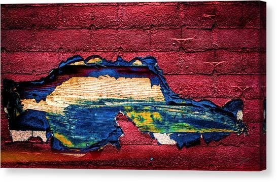 Police Car Abstract Canvas Print