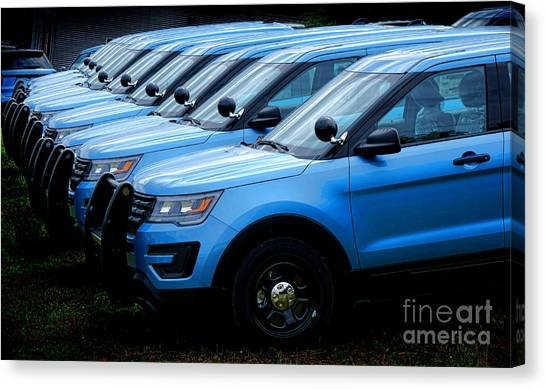 Utility Canvas Print - Police Line Up by Olivier Le Queinec