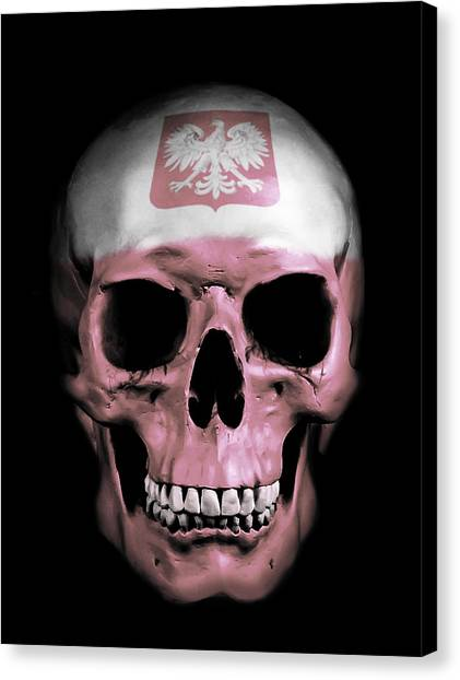 Skulls Canvas Print - Polish Skull by Nicklas Gustafsson