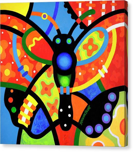 Kaleidoscope Butterfly Canvas Print