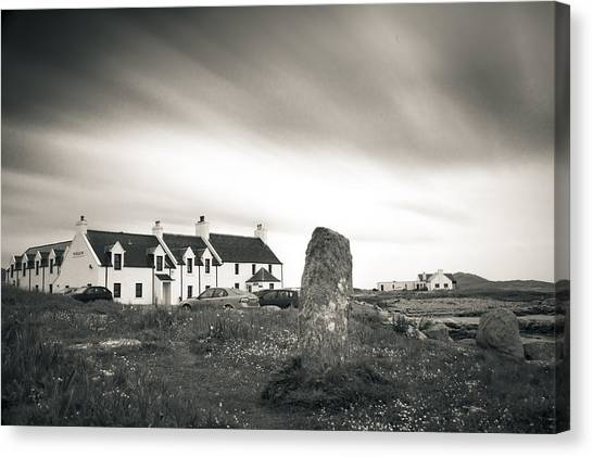 Pollochar Inn And Standing Stone Canvas Print