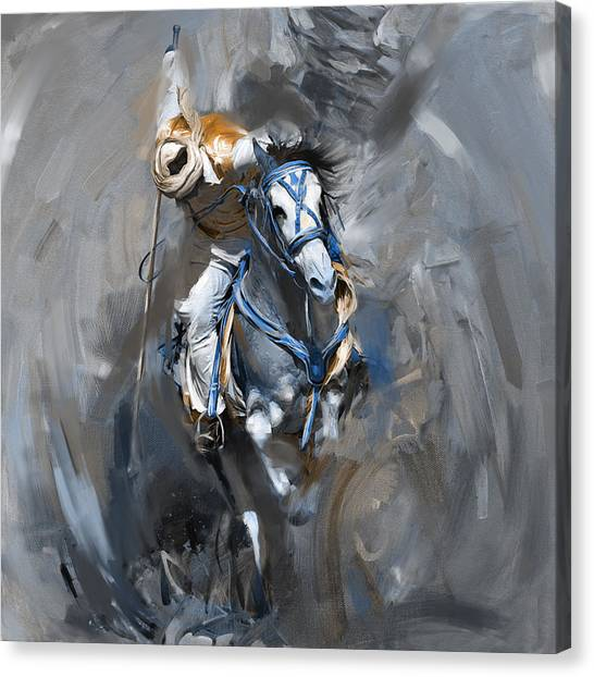 Polo Canvas Print - Polo 184 2  by Mawra Tahreem