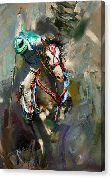 Polo Canvas Print - Polo 184 3 by Mawra Tahreem