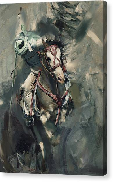 Polo Canvas Print - Polo 184 4 by Mawra Tahreem