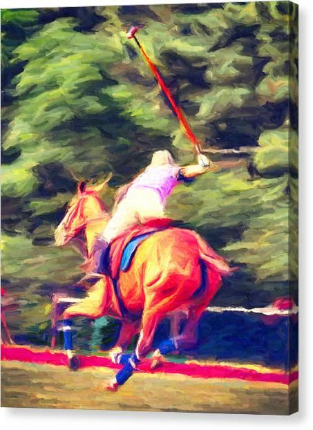 Polo Game 2 Canvas Print