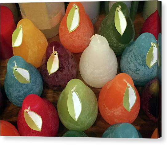 Canvas Print featuring the photograph Polychromatic Pears by Rick Locke