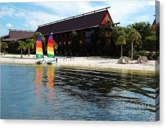 Polynesian Resort Beach Walt Disney World Prints Canvas Print