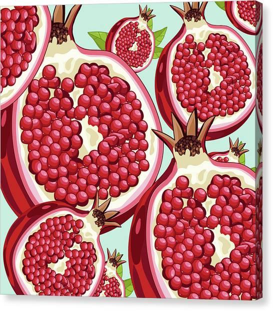 Grapefruits Canvas Print - Pomegranate   by Mark Ashkenazi