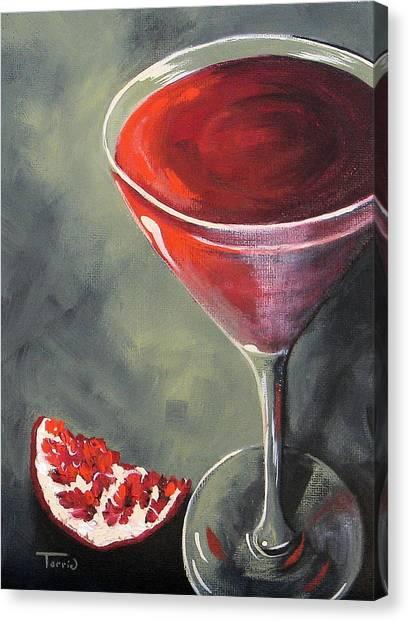 Pomegranate Martini  Canvas Print