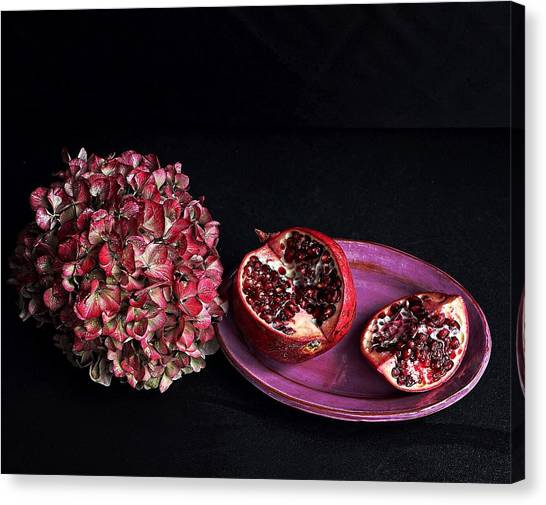 Pomegranate Still Life Canvas Print