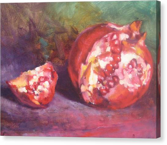 Pomegranate Canvas Print by Susan Jenkins