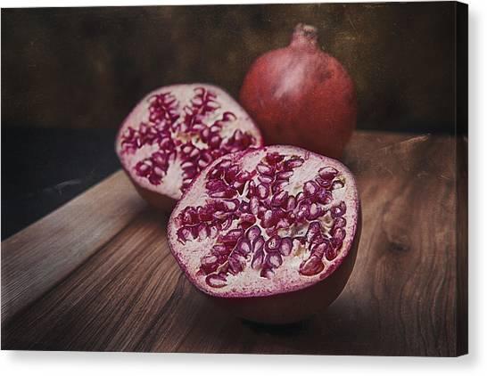 Medicine Canvas Print - Pomegranates by Tom Mc Nemar